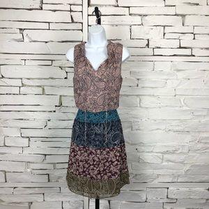 CAbi Medium V Neck Sleeveless Sun Dress 1818